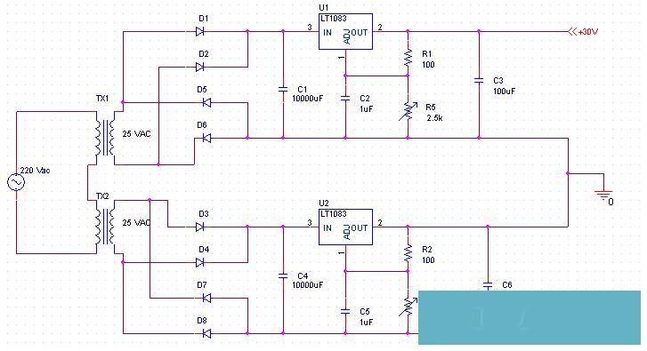 Рис.2. Принципиальная схема БП.