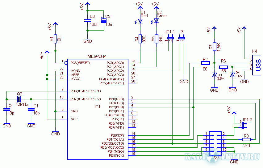 USBasp - USB программатор для