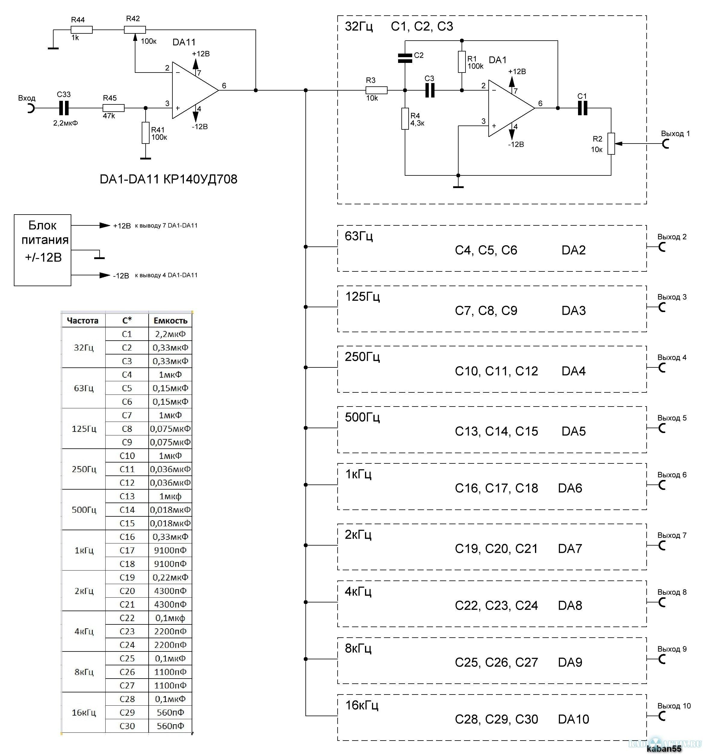Аудио анализатор спектра схема 13 фотография
